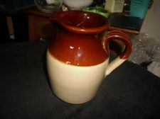TRADITIONAL TREACLE GLAZED STONEWARE JUG PEARSONS OF CHESTERFIELD 1 PINT
